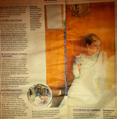 absolute party cruises evening standard
