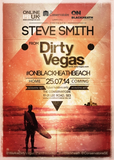 steve smith dirty vegas #onblackheathbeach
