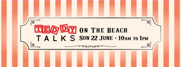 Teddy-Talks-on-the-beach-Banner
