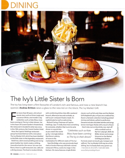 Review: The Ivy Market Grill: LondonPlanner