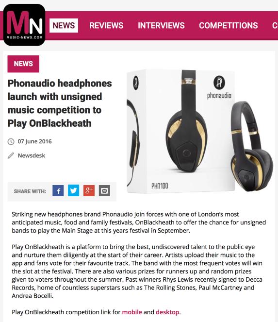 PR: Music News